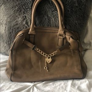 Handbags - Large brown purse with gold accents